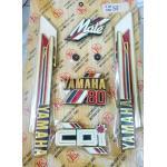 โลโก้รอบคันครบชุด YAMAHA Y80 Mate CDI งานใหม่