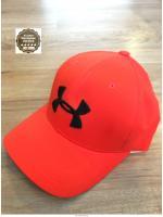 Under Armour - 2016 New Stretch Fit Cap : Free Size (สีส้ม/ โลโก้ดำ)