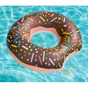(ขนาด 42 นิ้ว) Bestway ห่วงยาง River Swim ring ห่วงยางขนาดกลาง รูปโดนัท 107 เซนติเมตร **สีน้ำตาล สีชมพู