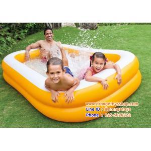 ( ขนาด 8 ฟุต ) สระน้ำ Intex Mandarin Swim Center Family Pool สระน้ำเป่าลม สีส้ม - ขาว (57181) 229 x 147 x 46 เซนติเมตร
