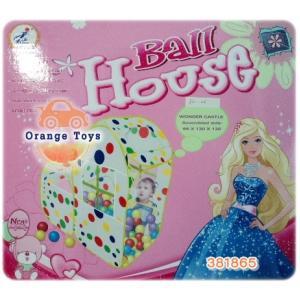 บ้านบอลเจ้าหญิง มีลูกบอล 80 ลูก ***ในกล่อง***