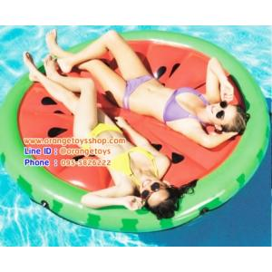 ห่วงยางเล่นน้ำแฟนซี แพยางเป่าลม แตงโม (ขนาดใหญ่) Watermelon Island INTEX double air mattress ขนาดสินค้าโดยประมาณ 183cm x 23cm