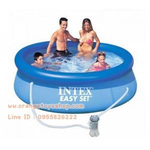 ( ขนาด 8 ฟุต )สระน้ำขนาดใหญ่ EasySet Pool Intex 28112 พร้อมเครื่องกรอง [8ฟุต] (244 x 76 ซม.)