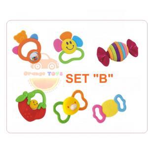 Huile Toys ของเล่นเด็กอ่อน เขย่ามือสำหรับเด็ก ชุดรวม ยางกัด HuilE SET B