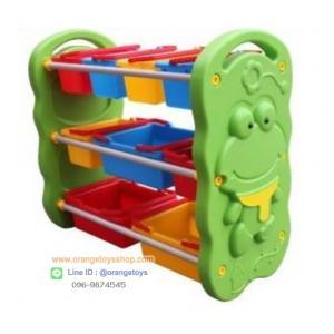 ชั้นวางของ ที่เก็บของเล่นเด็ก ชั้นวางของตะกร้ากบ 9 ช่อง