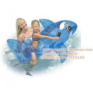 ปลาวาฬเป่าลม ขนาดใหญ่ สีฟ้าโปร่งใส 157 x 94 cm Bestway 41037
