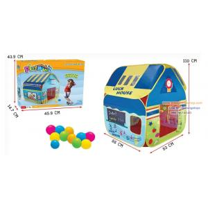 เต็นท์ บ้านบอล สีสวย Luck House คุณหนู พร้อมลูกบอลในกล่อง 12 ลูก