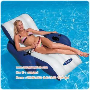 """แพยางเป่าลม แบบเดี่ยว Inflatable raft """"Floating Recliner Lounge 58868NP"""