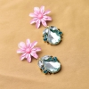 ##สินค้าหมดชั่วคราว## ของแท้ !!! ต่างหูยี่ห้อ Forever 21 ดอกไม้ ประดับเพรชและคริสตัล สุดหรู อลังการ ในราคาส่ง ให้สคุณเริ่ดได้สไตล์สาว F21 มี 2 สี สีชมพู และ สีฟ้า