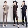 เสื้อผ้าเกาหลี พร้อมส่ง ชุดเซท เสื้อ+กางเกงขายาว