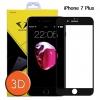 Diamond ฟิล์มกระจกเต็มจอ ฟิล์มกันรอยมือถือ Iphone 7 Plus 3D ขอบ Carbon fiber สีดำ ไอโฟน7 พลัส