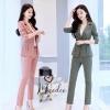 เสื้อผ้าเกาหลี พร้อมส่ง เซต 2ชิ้น Blazer+กางเกง