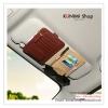 GL200 กระเป๋าใส่บัตรต่างๆ มีช่องเสียบปากกา และเสียบแว่นกันแดด สวมกับที่บังแดดรถยนต์ มี 4 สี : สีครีม สีดำ สีน้ำตาล สีส้ม ขนาด ยาว 15 * กว้าง 12.5 ซม.