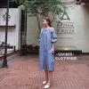 ชุดเดรสเกาหลี พร้อมส่ง Maxi dress งานปัก