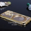 iPhone 5/5s Luxury Diamond ring Crystal Rhinestone Diamond Bling Metal frame Case Bumper Cover