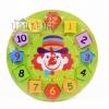 ของเล่นเสริมพัฒนาการ บล็อกไม้นาฬิกา รูปทรง ตัวเลข เสริมทักษะ