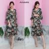 เดรสเกาหลี พร้อมส่ง Kimono flora เดรสกิโมโน