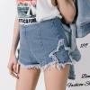 แฟชั่นเกาหลี พร้อมส่ง กางเกงยีนส์ขาสั้น สุดเก๋