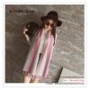 PR158 ผ้าพันคอแฟชั่น ผ้าไหมพรม พิมพ์ลายสวย ขนาด ยาว 135 กว้าง 30 cm.