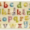 """ของเล่นไม้กระดานจับคู่เงา a - z ตัวพิมพ์เล็ก"""" จิ๊กซอว์ไม้เสริมพัฒนาการเด็ก"""""""