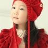 หมวกไหมพรมลายสีแดง น่ารักสไตล์เกาหลี
