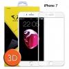 Diamond ฟิล์มกระจกเต็มจอ ฟิล์มกันรอยมือถือ Iphone 7 3D ขอบ Carbon fiber สีขาว /ไอโฟน 7