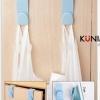 GK328 ที่แขวนสิ่งของต่างๆ สามารถเกี่ยวกับขอบตู้ ขอบประตู ขอบหน้าต่าง ใช้แขวนของต่าง 1 แพค มี 2 ชิ้น ***สีขาว***