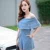 เสื้อผ้าแฟชั่นเกาหลี พร้อมส่ง จั๊มสูท ผ้ายีนส์ญี่ปุ่นเกรดเอ