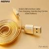 Remax สายชาร์จ Cable Micro (1M,Gold) สายแบบแบน ทนทาน