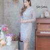 ชุดเดรสลูกไม้ พร้อมส่ง Dress ลูกไม้เกาหลีคอปกเชิ้ต