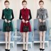 เดรสเกาหลี พร้อมส่ง เดรสทรงสวย ผ้าสำลีแบบนิ่ม