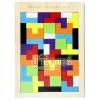 ของเล่นบล็อกไม้ปริศนา เกมไม้เททริส [Tetris]