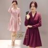 ชุดเดรสเกาหลี พร้อมส่ง Dress คอปก แขนยาว