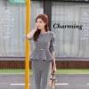 เสื้อผ้าเกาหลี พร้อมส่ง เสื้อกับกางเกงลายผ้าชิโนริ