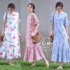 ชุดเดรสเกาหลี พร้อมส่ง Maxi Dress ทรงปล่อย