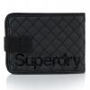 Superdry - Tarpaulin Wallet สีดำเย็บลายด้าย (Quilted Wallet)