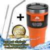 (ฟรีหลอด+แปรงขัด) แก้วเก็บเย็น ozarktrail ของแท้ 100% ขนาด 30 Oz. สีส้ม เก็บร้อนเย็นได้นาน 24ชั่วโมง