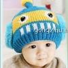 หมวกไหมพรม ตกแต่งคลายใส่ซาวเบ้าท์ สีฟ้าคราม น่ารักสไตล์เกาหลี