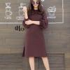 ชุดเดรสเกาหลี พร้อมส่ง Long Dress เดรสยาว แขนพอง