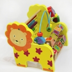ของเล่นไม้ลูกคิดไม้สิงโต 3in1 ลูกคิดหัดนับสำหรับเด็ก