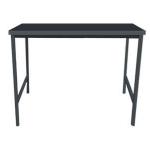 โต๊ะ 4 ที่นั่ง ท๊อปไม้จริง ขาเหล็กสีดำ สำหรับร้านสเต๊ก ร้านชาบู ร้านอาหาร