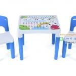 ชุดโต๊ะเขียนหนังสือคุณหนู โต๊ะเขียนหนังสือ โต๊ะ อเนกประสงค์ สำหรับเด็ก *** สีฟ้า สีชมพู สีเขียว**