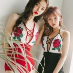 [พร้อมส่ง] ชุดว่ายน้ำ วันพีช ปักลายดอกกุหลาบสวยๆ