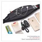 GB309 กระเป๋าคาดเอวใส่ออกกำลังกายกันน้ำ เนื้อผ้ากันละอองน้ำเล็กน้อย สามารถใส่มือถือ iphone หรือ smartphone ต่างๆ สายเข็มขัดสามารถปรับให้กระชับ เข้ากับรูปร่าง พกพาไปฟิตเนต ปั่นจักรยาน วิ่ง หรือ ใส่ของไปเดินทางท่องเที่ยว มีช่องสอดสายหูฟัง มีแถบสะท้อนแสง เปิ