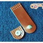 สายคาดปากกระเป๋าหนังแท้ กระดุมแม่เหล็ก สีน้ำตาล ขนาด (3x9.5ซม.)