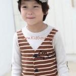 เสื้อผ้าเด็ก กั๊กน้ำตาล ci&si ไซส์ 100,110
