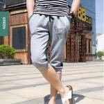 SP0028 กางเกงขาสั้น3ส่วน JOGGER GREY/GREEN STRIPED