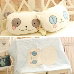 Cartoon cute cat pillow blanket ( หมอนผ้าห่มแมวเหมี่ยว )