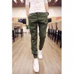กางเกงขายาวแฟชั่น ทรงJOGGER สีเขียว รุ่น KOMA LP0017
