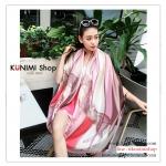 PR163 ผ้าพันคอแฟชั่น ผ้าชีฟอง พิมพ์ลายสวย ขนาด ยาว 180 กว้าง 90 cm. สำเนา